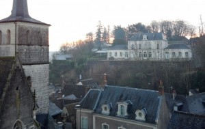 View from Chateau Veretz Terrace