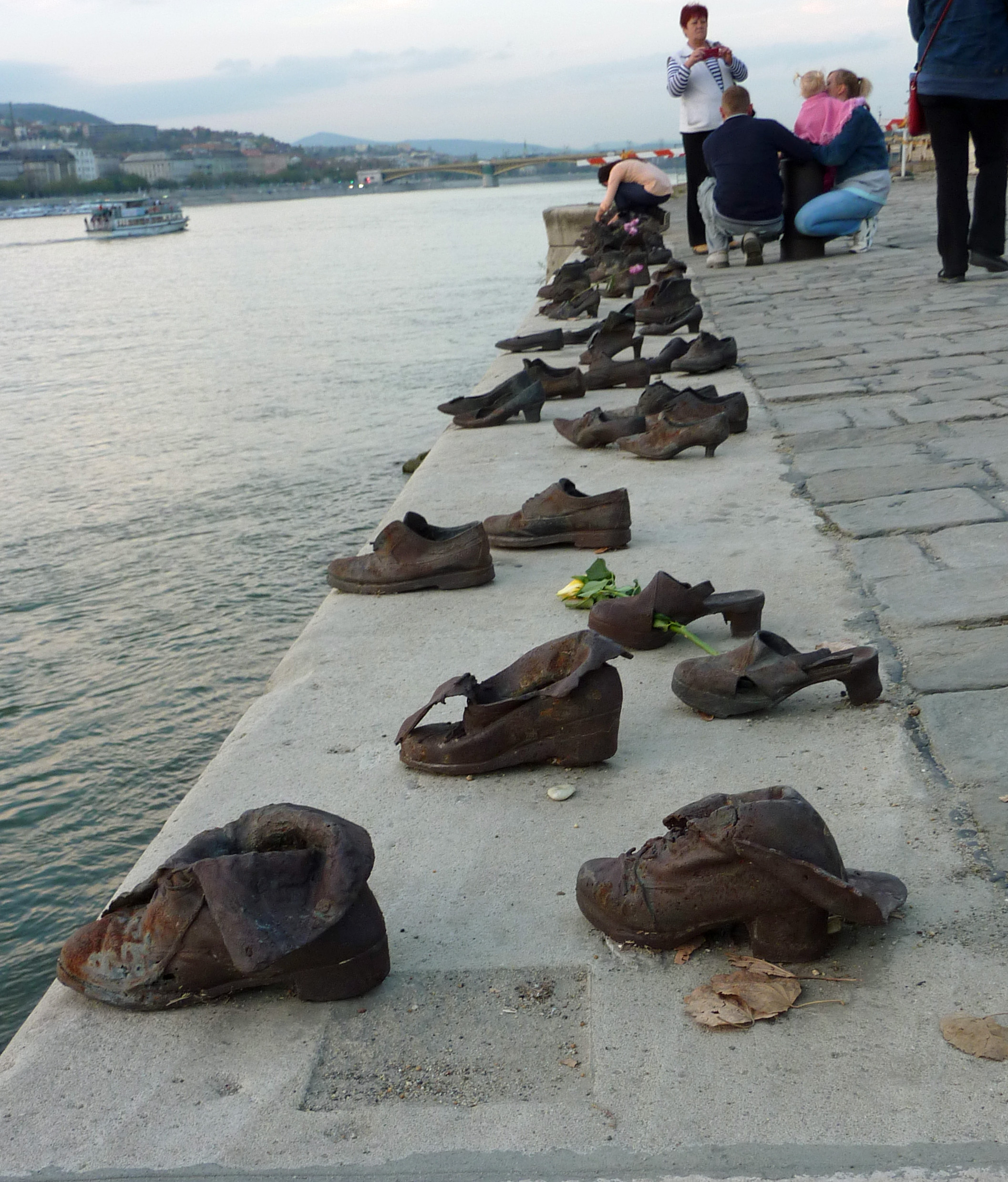 shoes on river
