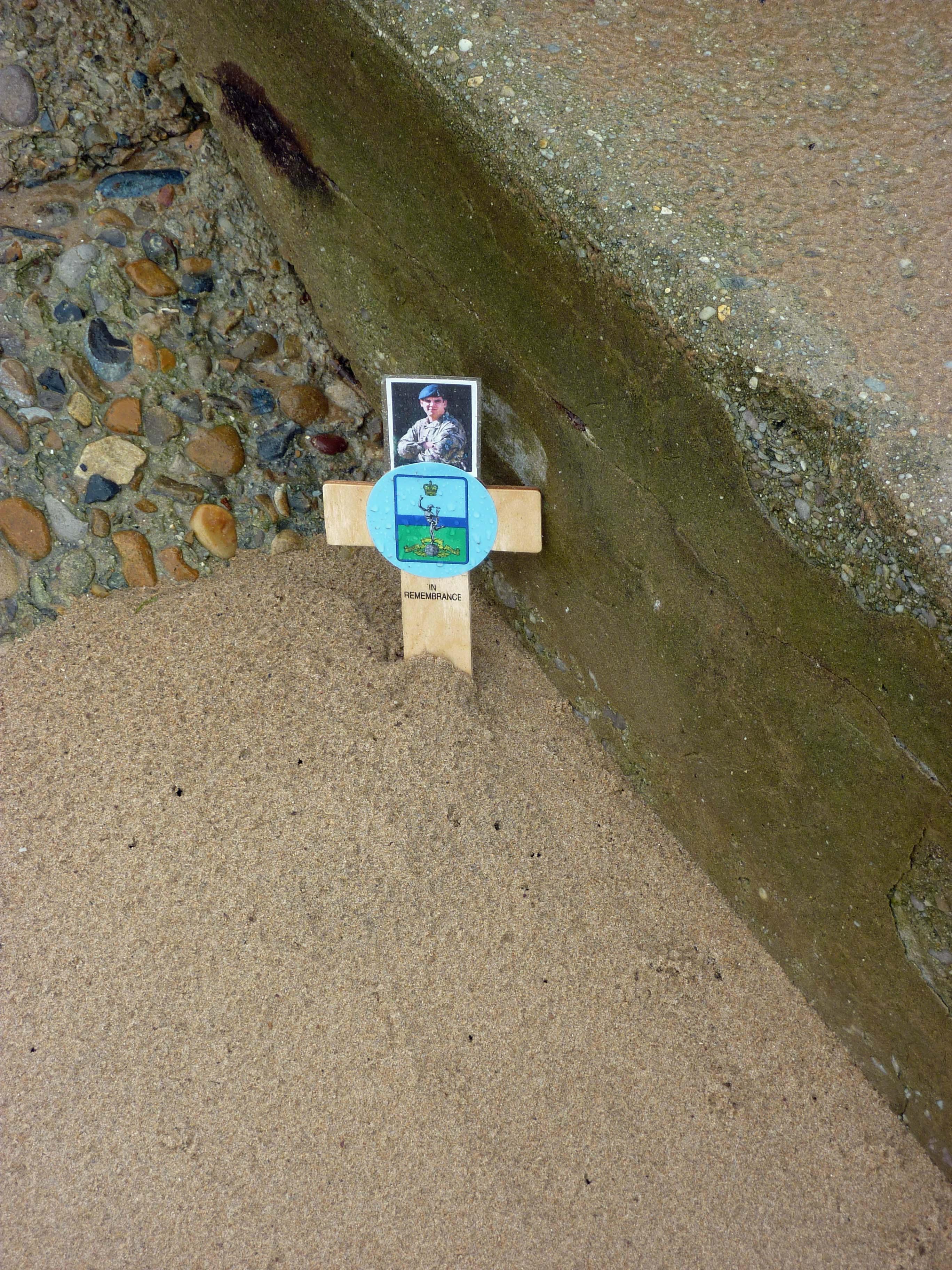 memorial in sand