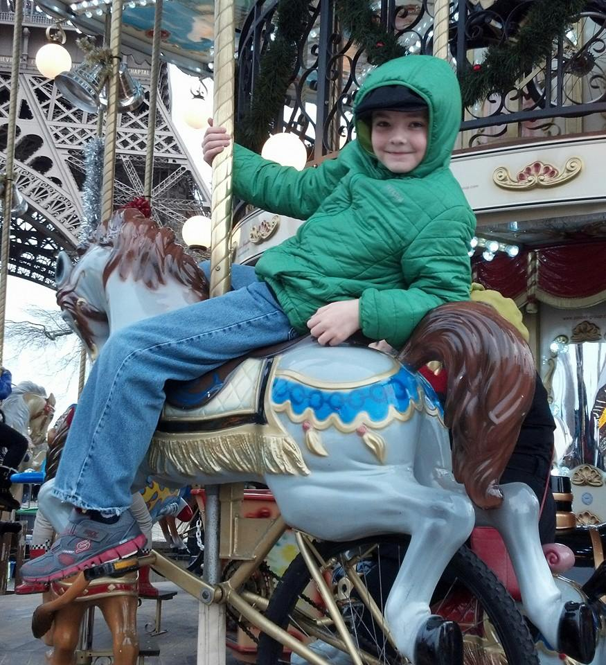 benji on the horse