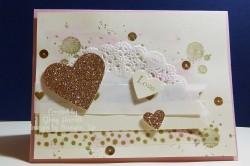 gold valentine with grunge
