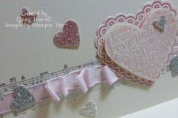 pink heart close up
