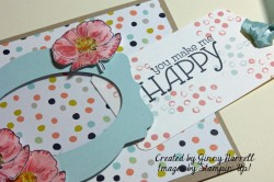 happy bookmark out of card