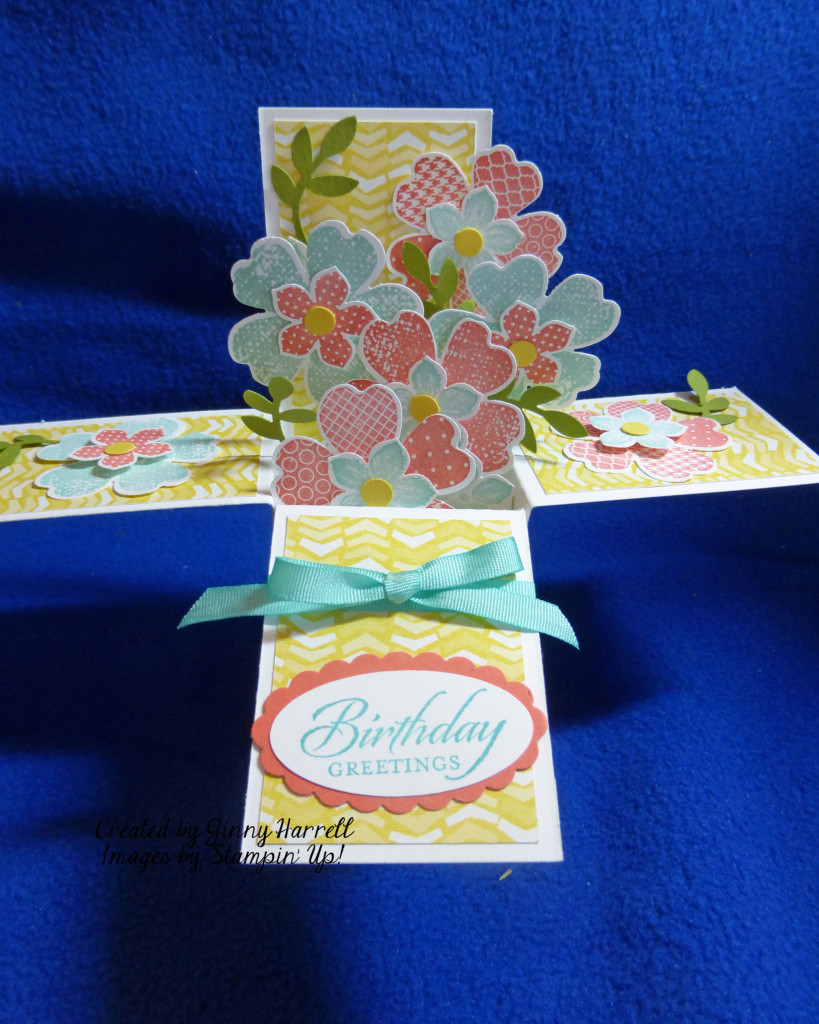flower card in a box
