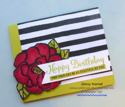 Created by Ginny Harrell using Beautiful Day by Stampin' Up! Ginny Harrell @ Celebrate-the-journey.com #stampn' up! #2018 Occasions Catalog