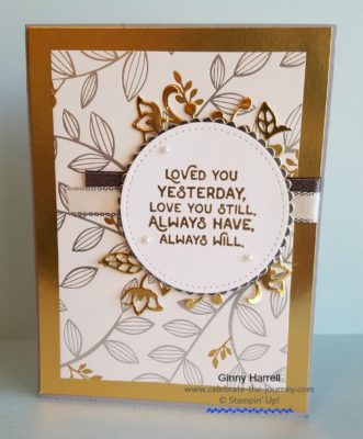 Created by Ginny Harrell using Love You Still by Stampin' Up! Ginny Harrell @ Celebrate-the-journey.com #stampn' up! #2018 Occasions Catalog