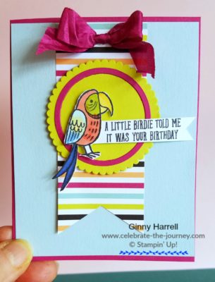 #2108 Stampin' Up Occasions Catalog #Ginny Harrell #Bird Banter
