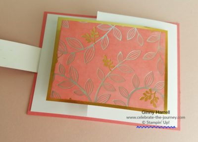 Easter card created by Ginny Harrell using Springtime foils by Stampin' Up! Ginny Harrell @ Celebrate-the-journey.com #stampn' up! #Sale-a-bration #2018 Occasions Catalog