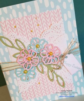 #stampin' up #ginny harrell #Easter #shabby chic #blog hop