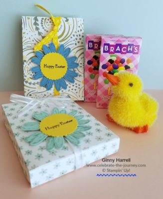 Easter treats created by Ginny Harrell using stampin' up sullpies by Stampin' Up! Ginny Harrell @ Celebrate-the-journey.com #stampn' up! #Sale-a-bration #2018 Occasions Catalog