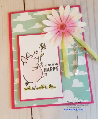#animals #stampin up #this little piggy #inspire.create #ginny harrell
