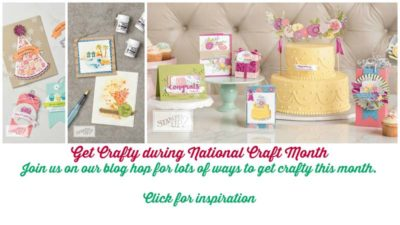 #National Craft Month #Get Crafty #stampin' Up #Ginny Harrell