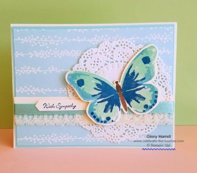 Card-created-by-Ginny-Harrell. Watercolor-Wings. #Stampin' Up. #Stampin' Up! Retiring Products