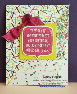 #Retiring Stampin' Up Products #Stampin' Up #Ginny Harrell #birthday wit