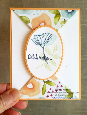 Spring Card Created by Ginny Harrell using Oh So Eclectic by Stampin' Up! Ginny Harrell @ Celebrate-the-journey.com #stampn' up!