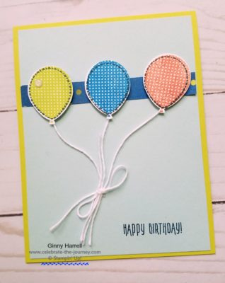 Simple Birthday Banner card created by Ginny Harrell@ celebrate-the-journey.com