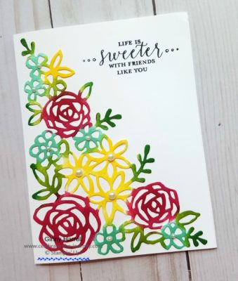 colours Stampin' Creative blog hop ginny harrell stampin' up