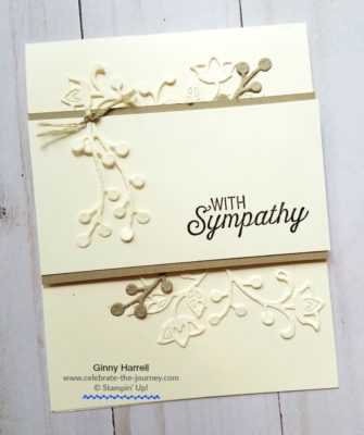 Flourishing Phrases sympathy card Stampin' Up Global Design Project Ginny Harrell
