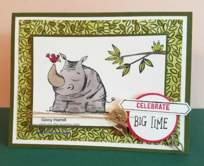 Animal Outing Stampin' Up Ginny Harrell Birthday cards