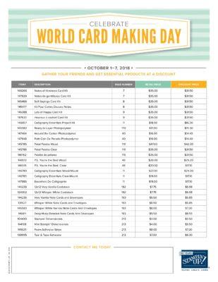 World Card Making Day Ginny Harrell Stampin Up