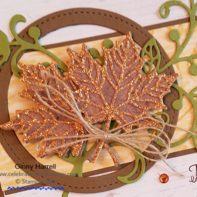 Autumn cards thinking of you stampin' up ginny harrell