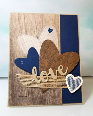 Wood textures stampin' up!