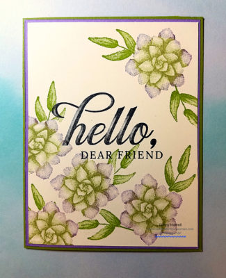 Hello, Dear Friend Ginny Harrell Stampin' Up!