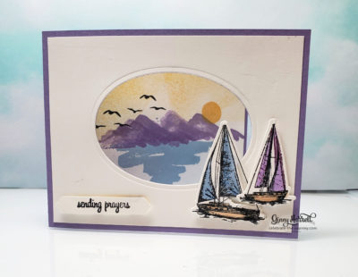 Sailing home waterfront stampin' up! ginny harrell