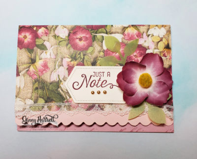 scalloped note cards ginny harrell