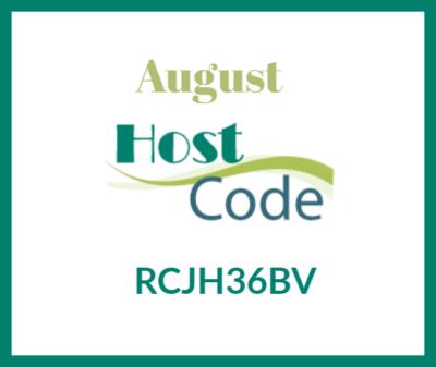 August Host Code Ginny Harrell
