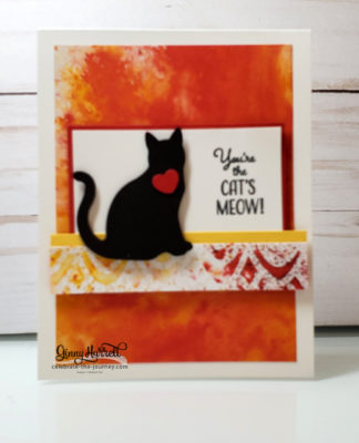See a Silhouette cat punch ginny harrell stampin' up