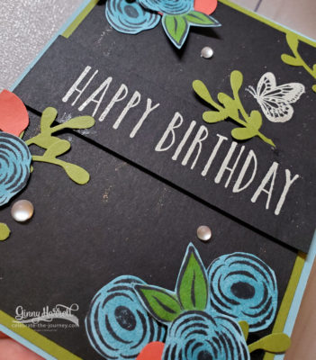 library challenge perennial birthday stampin' up ginny harrell
