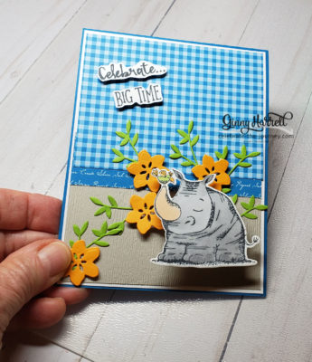 animal outing, birthday, stampin' up, ginny harrell