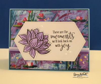lovely lily pad stampin up ginny harrell